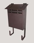 Handmade Vertical Wall Mounted Arts and Crafts Smooth Antique Mailbox