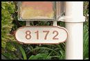 Hanging Address Plaque for Mailbox Post