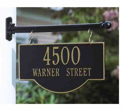 Standard Size 2-Sided Hanging Arch Plaque - (1 or 2 lines)