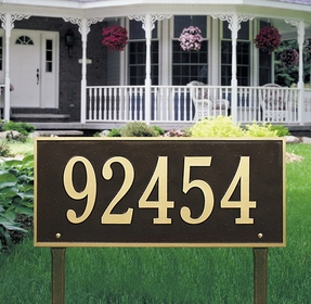 Whitehall Hartford Estate One Line Lawn Address Sign