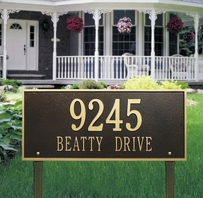 Whitehall Hartford Estate Two Line Lawn Address Sign