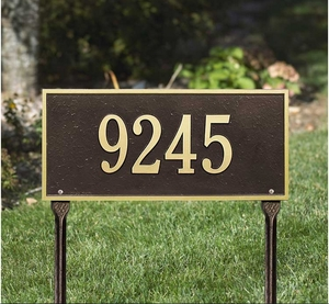 Whitehall Hartford Standard One Line Lawn Address Sign