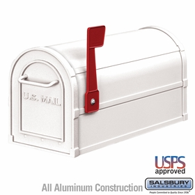 Salsbury 4850WHT Heavy Duty Rural Mailbox White