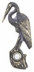 Whitehall Heron Doorbell (Solid Brass) - Verdigris Finish