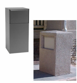 High Security Locking Mailbox with Rear Access - Gray