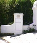 High Security Locking Mailbox with Rear Access - White