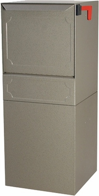 High Security Package Delivery Locking Parcel Mailbox with Post Option - Sand
