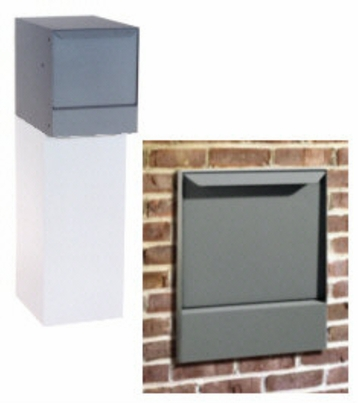 High Security Wall Mount Locking Mailbox (top only) - gray