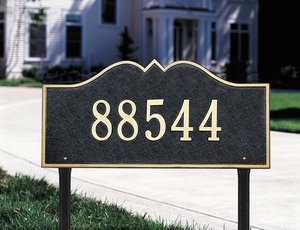 Whitehall Hillsboro - One Line - Estate Lawn Address Sign