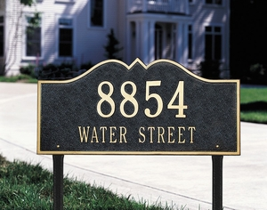 Whitehall Hillsboro - Two Line - Estate Lawn Address Sign