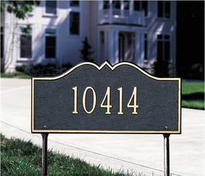 Whitehall Hillsboro - One Line - Standard Lawn Address Sign