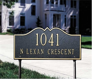 Whitehall Hillsboro - Two Line - Standard Lawn Address Sign