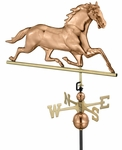 Horse Weathervane - Polished Copper
