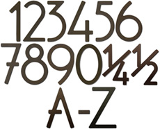 House Numbers and Letters Bronze Contemporary 5 Inch