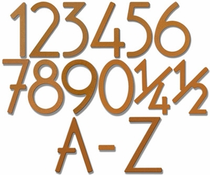 House Numbers and Letters Rust Contemporary 5 Inch