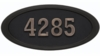 Housemark Large Oval Address Plaques Black. Black with Antique Bronze