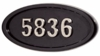 Housemark Large Oval Address Plaques Black, Black with Satin Nickel