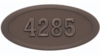 Housemark Large Oval Address Plaques Bronze, Bronze with Antique Bronze