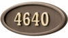 Housemark Large Oval Address Plaques Bronze, Bronze with Brass
