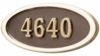 Housemark Large Oval Address Plaques Bronze with Brass