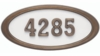 Housemark Large Oval Address Plaques White with Antique Bronze Trim