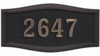 Housemark Large Roundtangle Address Plaques Black. Black with Antique Bronze