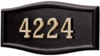 Housemark Large Roundtangle Address Plaques Black, Black with Brass