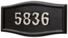 Housemark Large Roundtangle Address Plaques Black, Black with Satin Nickel