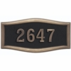 Housemark Large Roundtangle Address Plaques Black with Antique Bronze