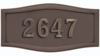 Housemark Large Roundtangle Address Plaques Bronze, Bronze with Antique Bronze