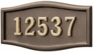 Housemark Large Roundtangle Address Plaques Bronze, Bronze with Brass