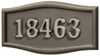 Housemark Large Roundtangle Address Plaques Bronze, Bronze with Satin Nickel