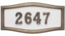 Housemark Large Roundtangle Address Plaques White with Antique Bronze Trim