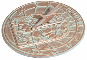 Whitehall Hummingbird Sundial - Copper Verdi