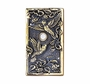 Whitehall Hummingbird Wide Doorbell (Solid Brass) - Verdigris Finish