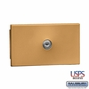 Salsbury 1090BU Key Keeper Recessed Mounted Brass Finish USPS Access