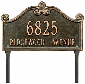Whitehall Lancaster Standard One Line Lawn Address Sign