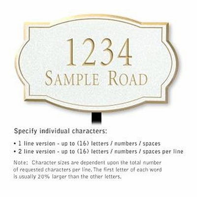 Salsbury 1440WGNL Signature Series Address Plaque