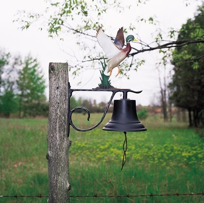 Whitehall Large Bell with Retriever Ornament (Life-Like MultiColor)