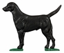 Whitehall Large Bell with Retriever Ornament Black