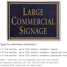 Surface Mount Wall Signs