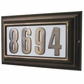 Edgewood Large Lighted Address Plaque with Cast Aluminum Numbers (Choose Frame and Numbers)