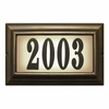 Edgewood Large Lighted Address Plaque with Cast Aluminum Numbers - French Bronze Frame