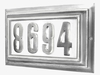 LARGE Lighted Address Plaque Pewter Frame