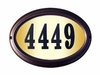 OVAL Lighted Address Plaque (Choose Frame and Numbers)