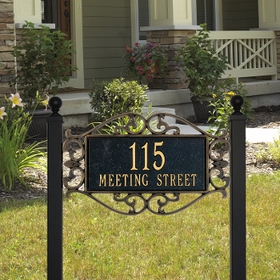 Whitehall Lewis Fretwork - Estate Lawn Address Sign - Two Line
