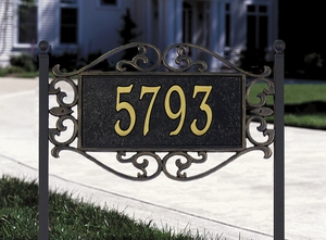 Whitehall Lewis Fretwork - Standard Lawn Address Sign - One Line
