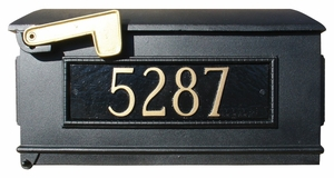 Lewiston Mailbox Only with Address Plaques