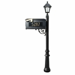 Lewiston Mailbox Package with Address Plate & Solar Lamp