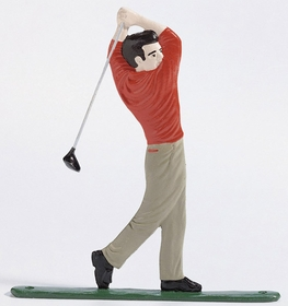 Whitehall Life-Like Multi-Color Golfer Mailbox Ornament